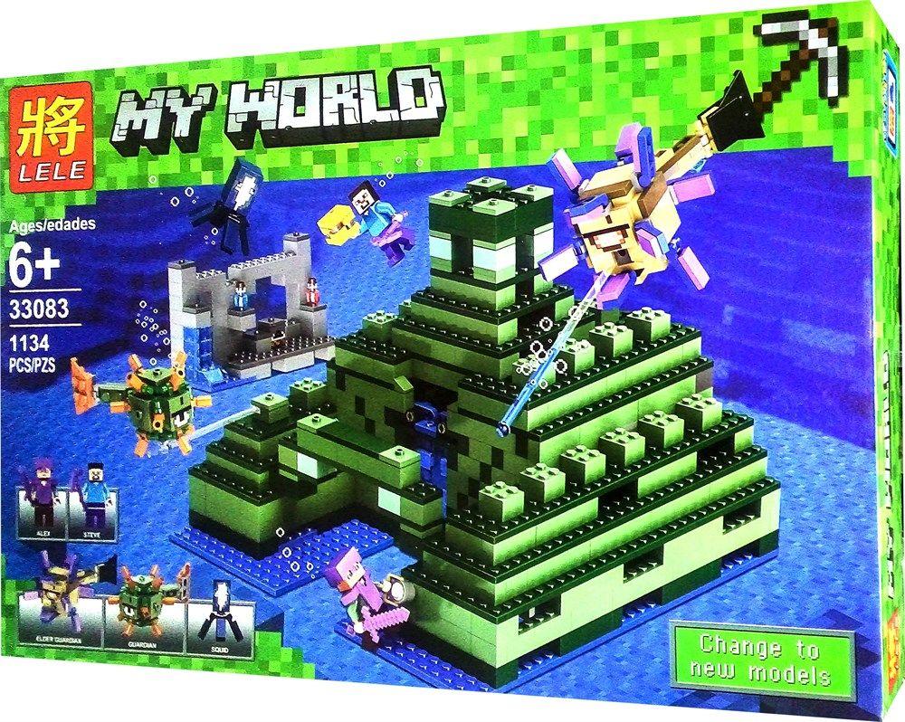 """LELE MY WORLD """"ПОДВОДНАЯ КРЕПОСТЬ"""" 1134 деталей NO.33083"""
