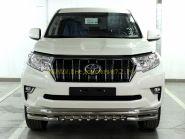 Защита переднего бампера 76х60х43 мм для Toyota Land Cruiser Prado 150 2017 -