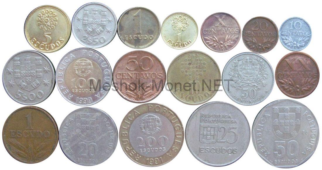 Набор монет Португалии (18 монет)