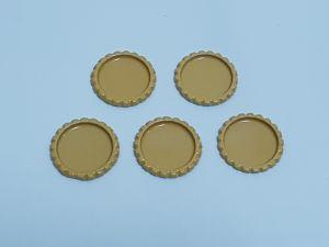 Крышка, Материал металл, Внутренний диаметр 25 мм, наружный 31 мм, Цвет №15 (1 уп. = 24 шт)