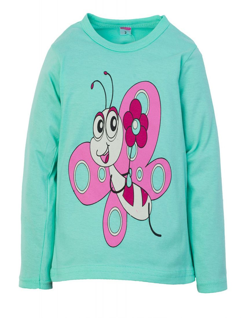Лонгслив для девочки Бабочка