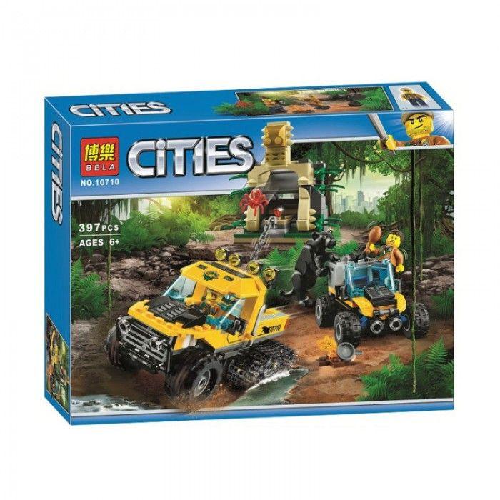 """LELE CITIES """" Исследователь джунглей """" 404 деталей NO.39063 ( CITY 60159 )"""