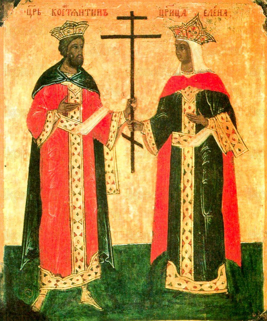 Икона Константин и Елена (копия 15 века)