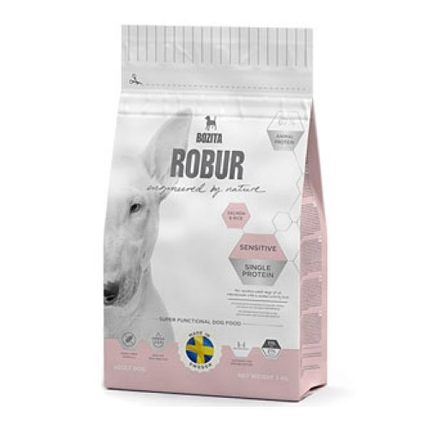 Корм сухой  BOZITA ROBUR Sensitive Single Protein Salmon & Rice для взрослых собак с нормальным уровнем активности и чувствительным пищеварением с лососем 3кг