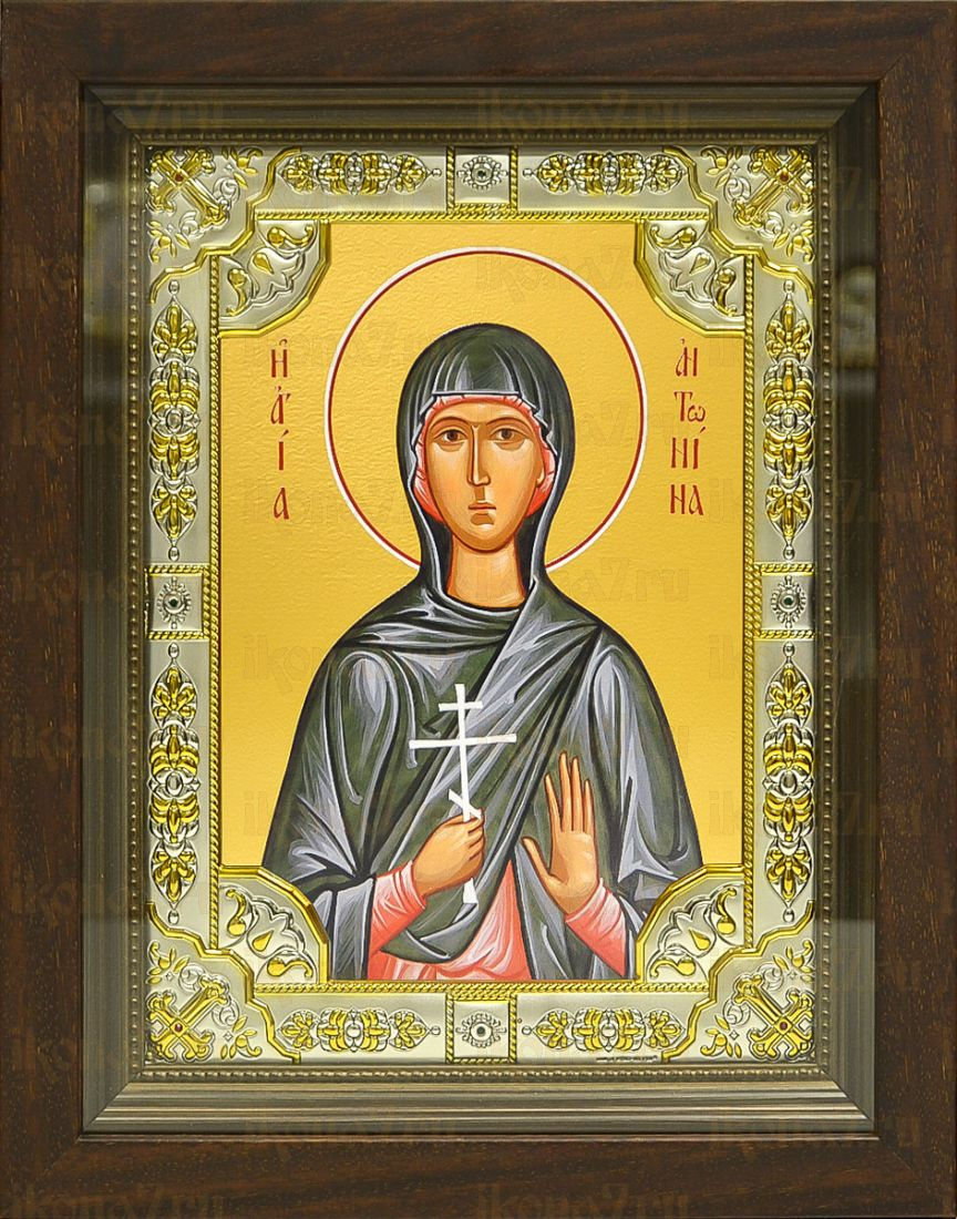 Антонина Никейская (24х30), серебро