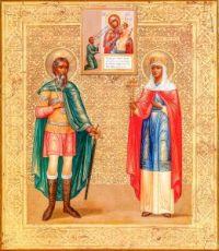 Ольга и Андрей Стратилат (копия старинной иконы)