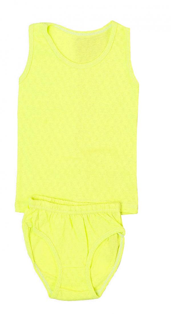 Майка и трусики для девочки желтого цвета