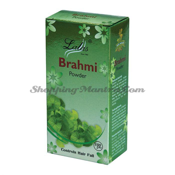 Брами (порошок) кондиционер и маска для волос Лалас Хербал   Lalas Herbal Brahmi Hair Powder