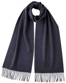 однотонный кашемировый шарф (100% драгоценный кашемир), цвет Найтшейд  Nightshade Classic cashmere, высокая плотность 7