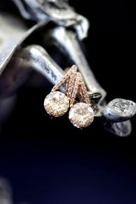 Позолоченные серьги с искусственными бриллиантами (арт. 305111)
