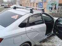 Багажник на крышу Lada Vesta, Атлант, крыловидные дуги, опора Е