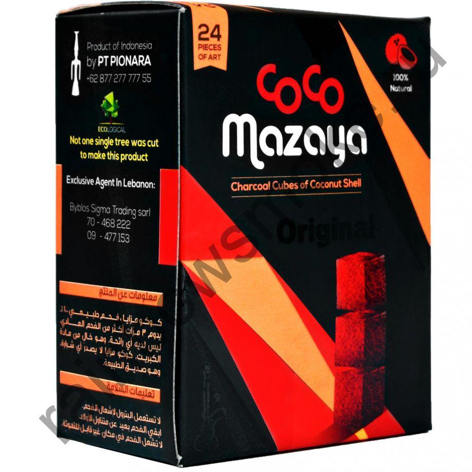 Уголь кокосовый для кальяна Coco Mazaya (24 шт)