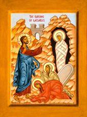Воскрешение Лазаря (икона на дереве)