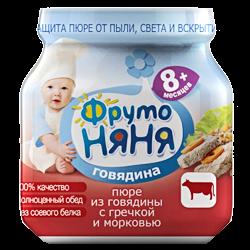 Пюре Фрутоняня говядина гречка морковь 100г