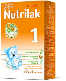 Мол.смесь Нутрилак-1( с 0  мес.) адаптированная 350г