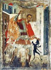 Икона Никита Бесогон (копия стариной)