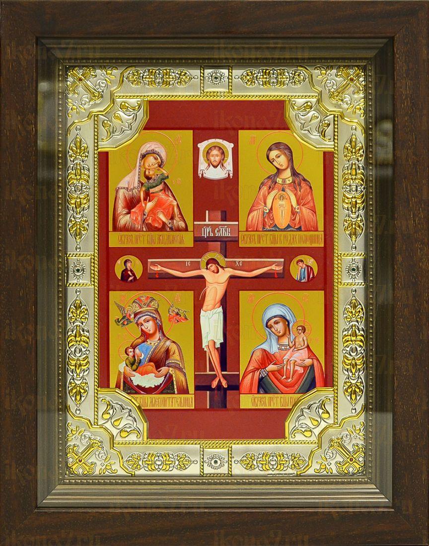 Материнская икона Божией Матери (24х30), серебро