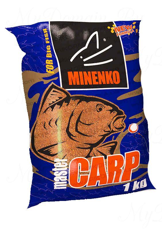 Прикормка МИНЕНКО Master Carp Strawberry (Клубника), вес 1 кг