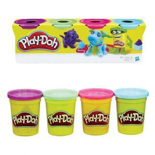 Пластилин PLAY-DOH Hasbro, 4 цвета, 546 г, баночки в коробке, B5517