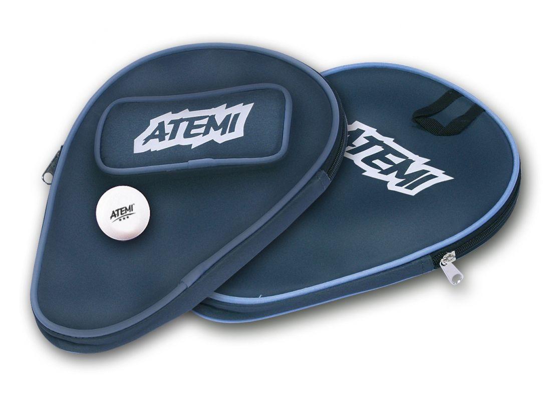 Чехол для ракетки для наст. тенниса ATEMI COVER с отделением для шариков