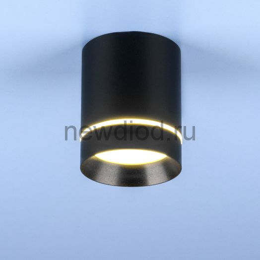 Накладной точечный светильник DLR021 9W 4200K черный матовый