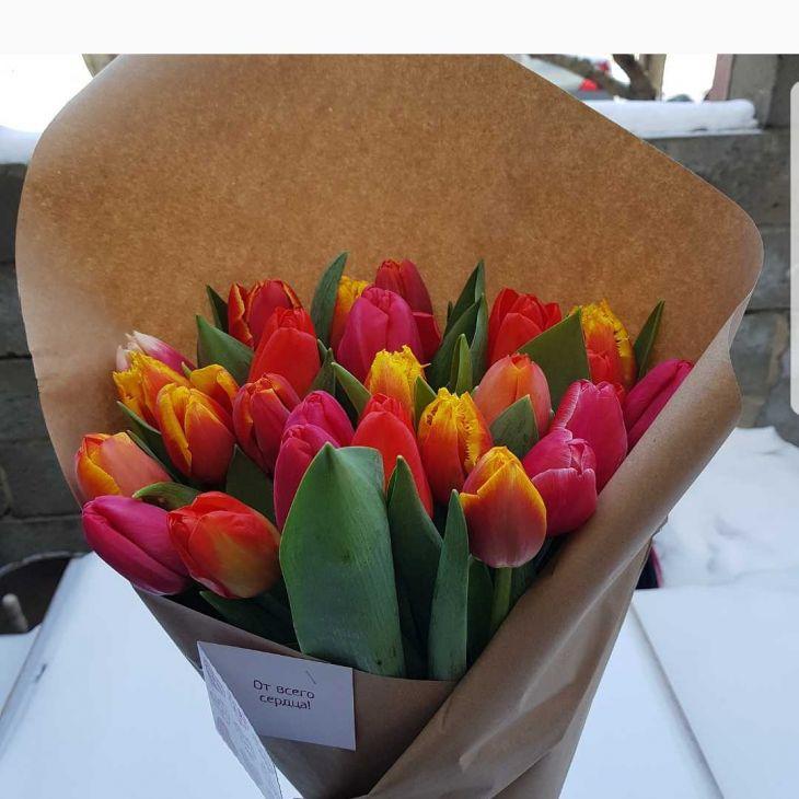 25 микс тюльпанов в Крафте