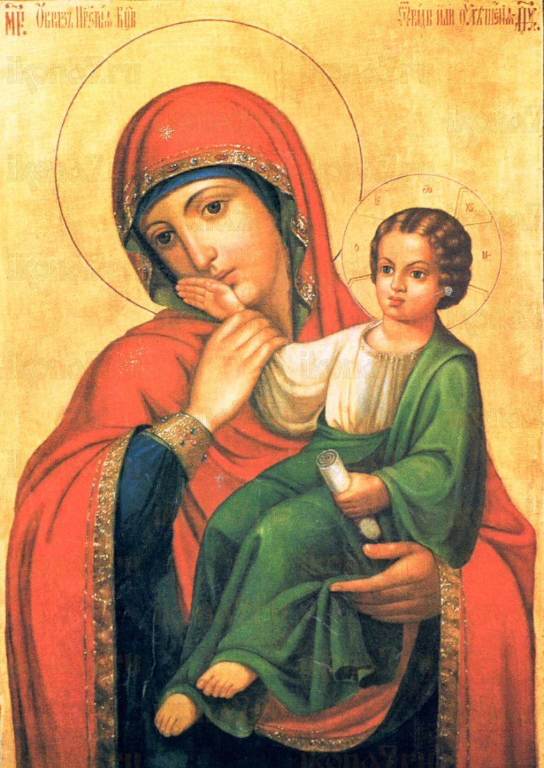 Икона Отрада и Утешение икона Божией Матери (копия 18 века)