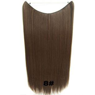 Искусственные термостойкие волосы на леске прямые №008 (60 см) - 100 гр.