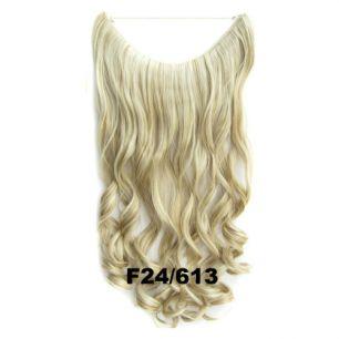 Искусственные термостойкие волосы на леске волнистые №F024/613 (60 см) - 100 гр.