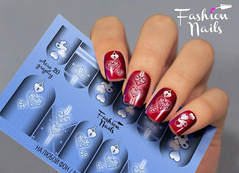 Слайдер дизайн Fashion Nails Aerography #20