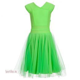 Платье для танцев с двухслойной юбкой
