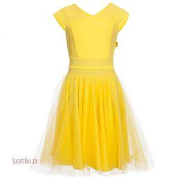 Платье для танцев желтого цвета