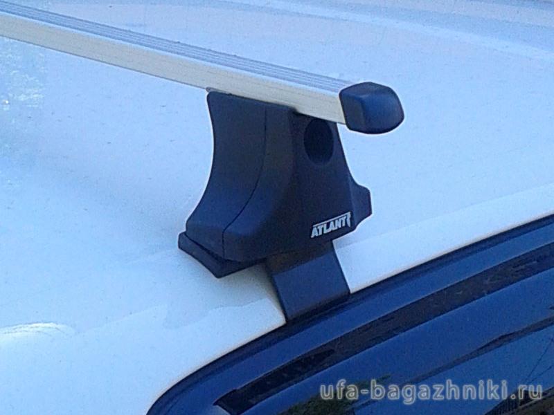 Багажник на крышу Volkswagen Polo hatchback 2009-..., Атлант, прямоугольные дуги