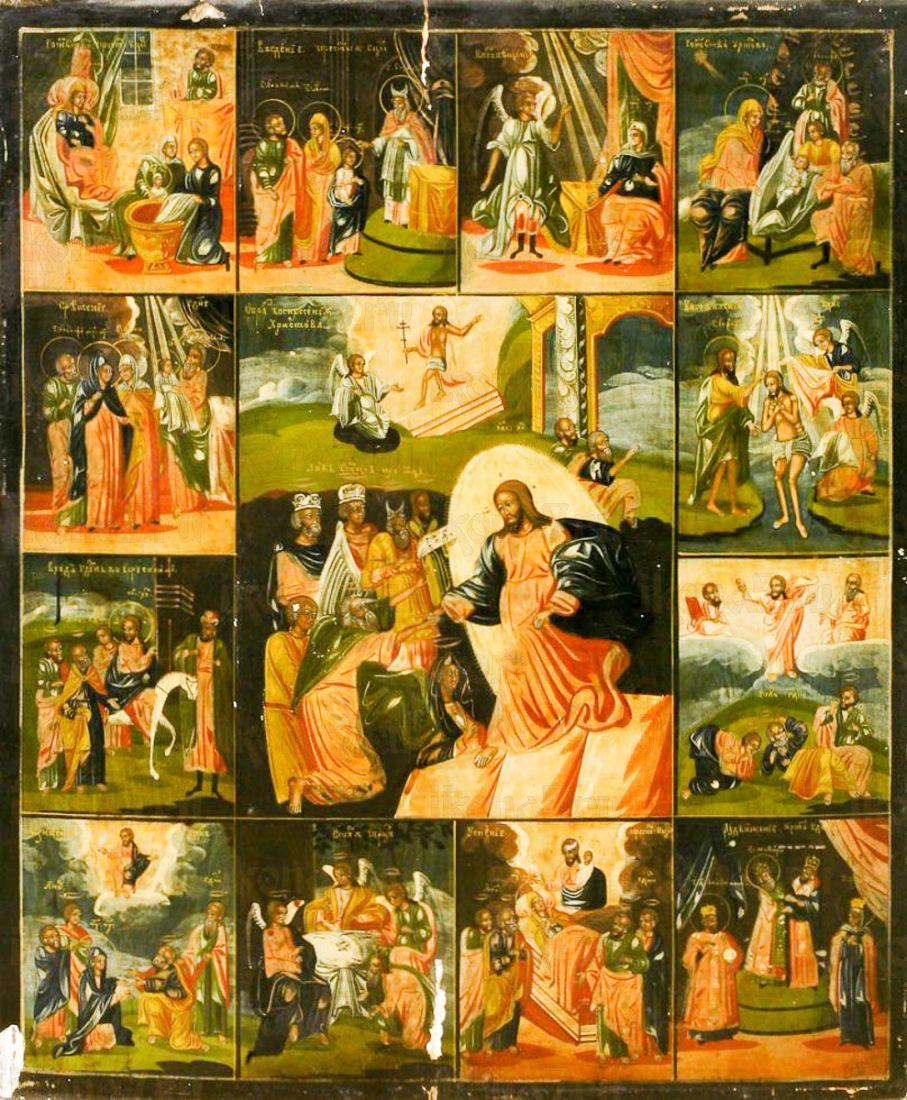 Воскресение Христово с праздниками (копия иконы 18 века)