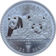 Германия 2016 Серебряная Панда серебро 1/16 унции
