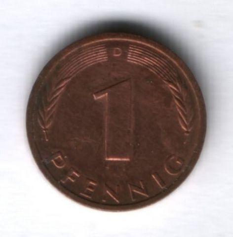 1 пфенниг 1990 г. ФРГ Германия
