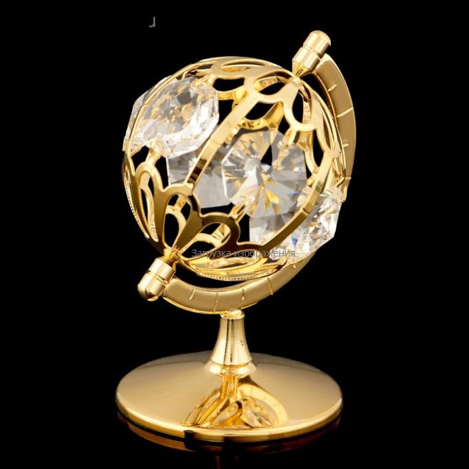 Глобус с кристаллами Swarovski. Изысканный сувенир