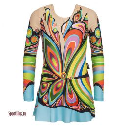 Купальник с юбкой для художественной гимнастики