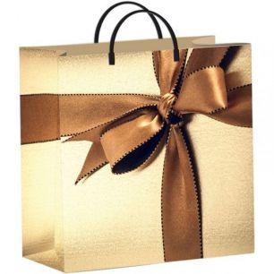 """Пакет из мягкого пластика 30х30 см """"Подарочный""""   140 мкм"""