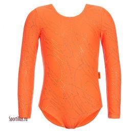 Купальник для выступлений, оранжевый