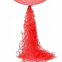 Подвеска бумажная, спираль, красная, 1 м