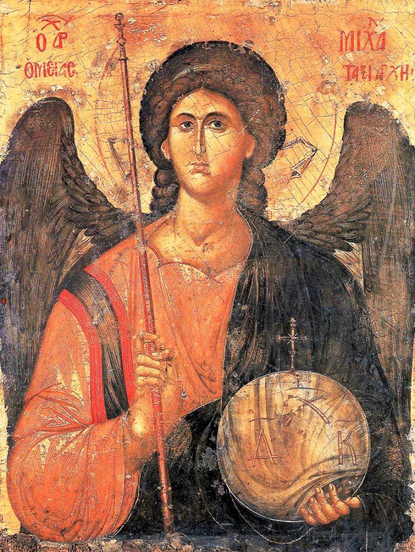 Икона Михаил Архангел (копия 14 века)