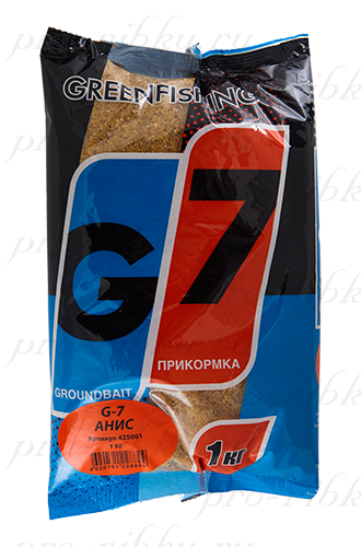 """Прикормка GREENFISHING """"G-7 Анисовый микс"""", вес 1 кг"""