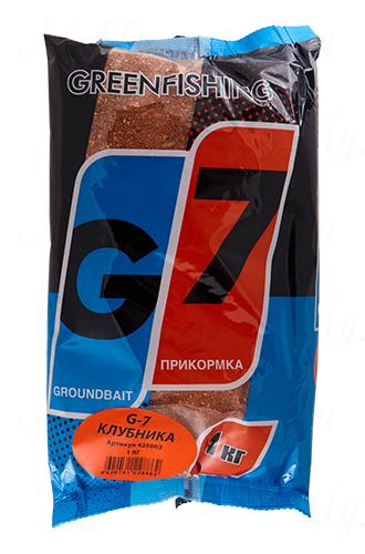 "Прикормка GREENFISHING ""G-7 Клубничный микс"", вес 1 кг"