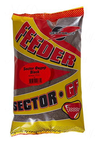 Прикормка GREENFISHING SECTOR-GF Feeder Блэк, вес 1 кг