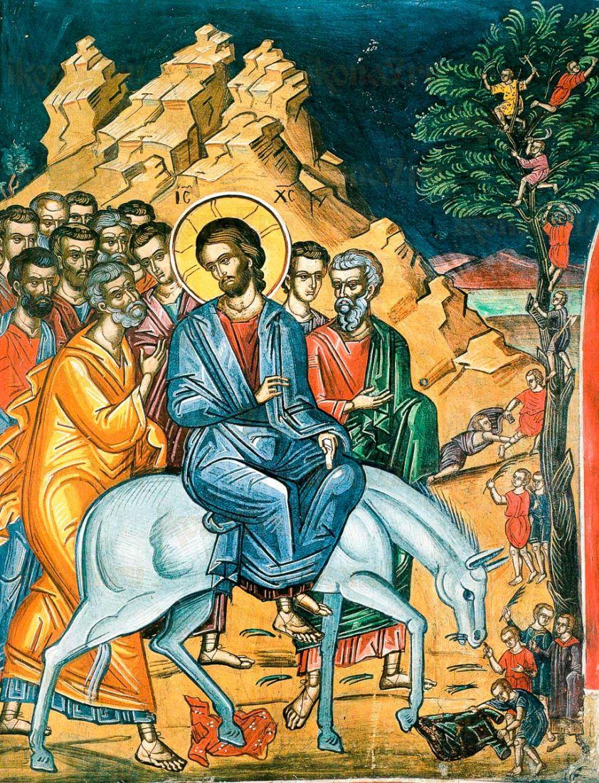 Вход Господень в Иерусалим (копия иконы 16 века)