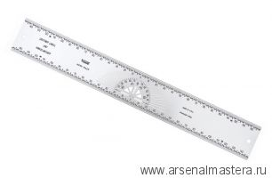 Разметочная линейка плоская высокой точности с угломером 300мм Incra CNT300M