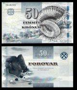 РЕДКАЯ КУПЮРА! ФАРЕРСКИЕ ОСТРОВА 50 КРОН 2001 ГОД ПРЕСС