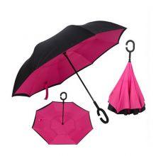 Зонт Наоборот, однотонный Розовый
