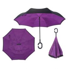Зонт Наоборот, однотонный Фиолетовый
